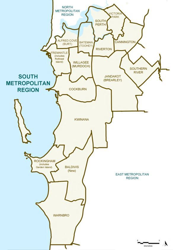 Map of the 2015 Proposed South Metropolitan Region