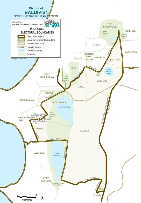 Map of 2015 Proposed Baldivis district