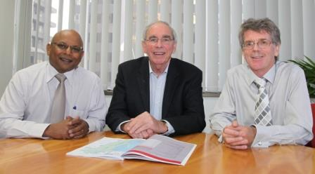 The Electoral Distribution Commissioners - Mr Tom Joseph, Hon. Neville Owen, Mr David Kerslake