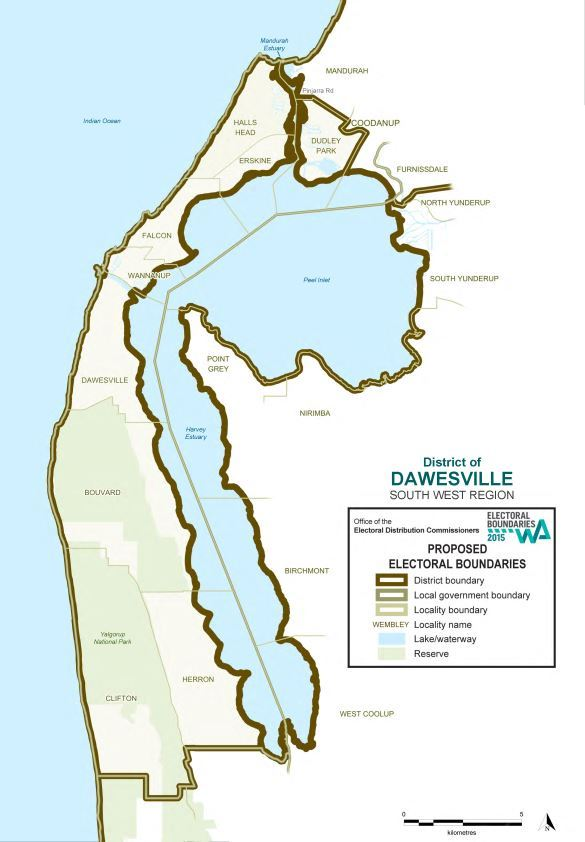 Map of 2015 Proposed Dawesville district