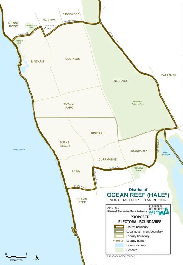 Map of 2015 Proposed Ocean Reef district