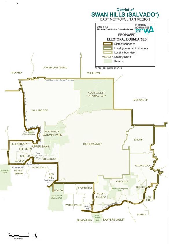 Map of 2015 Proposed Swan Hills district