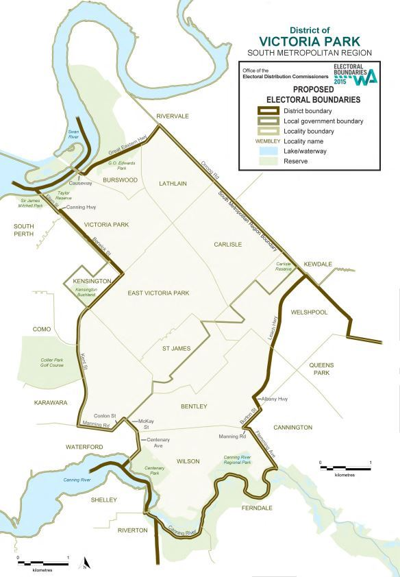 Map of 2015 Proposed Victoria Park district