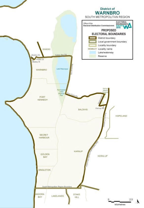 Map of 2015 Proposed Warnbro district