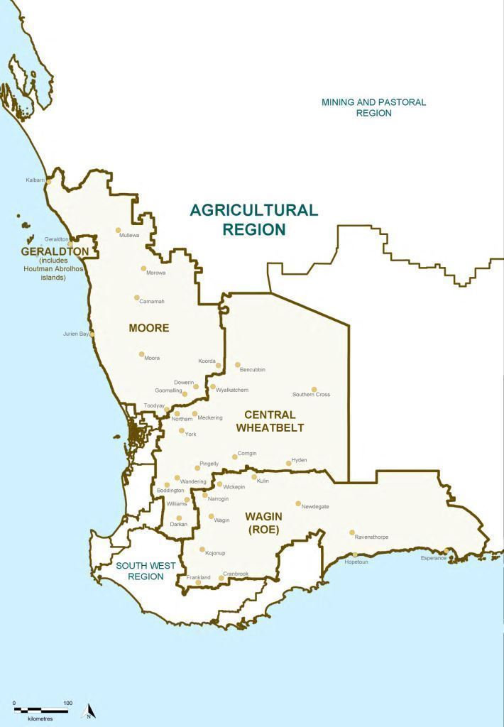 Map of the 2015 Proposed Agricultural Region