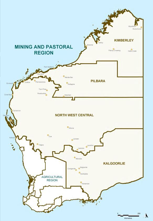 Map of 2015 Proposed Mining and Pastoral Region