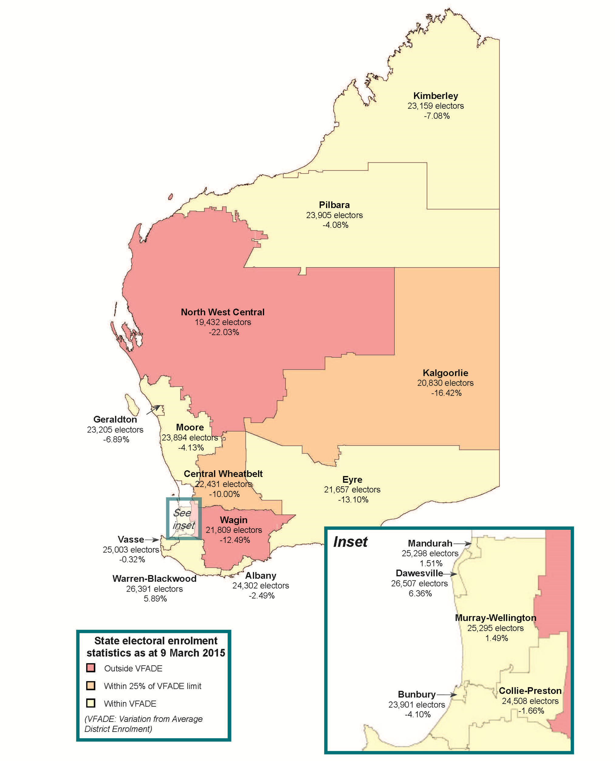 Variation from average district enrolment, country districts. Click for PDF version or see http://www.boundaries.wa.gov.au/electoral-boundaries/electoral-enrolment-statistics
