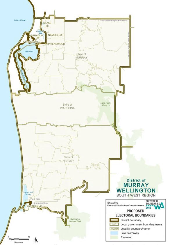 Map of 2015 Proposed Murray-Wellington district