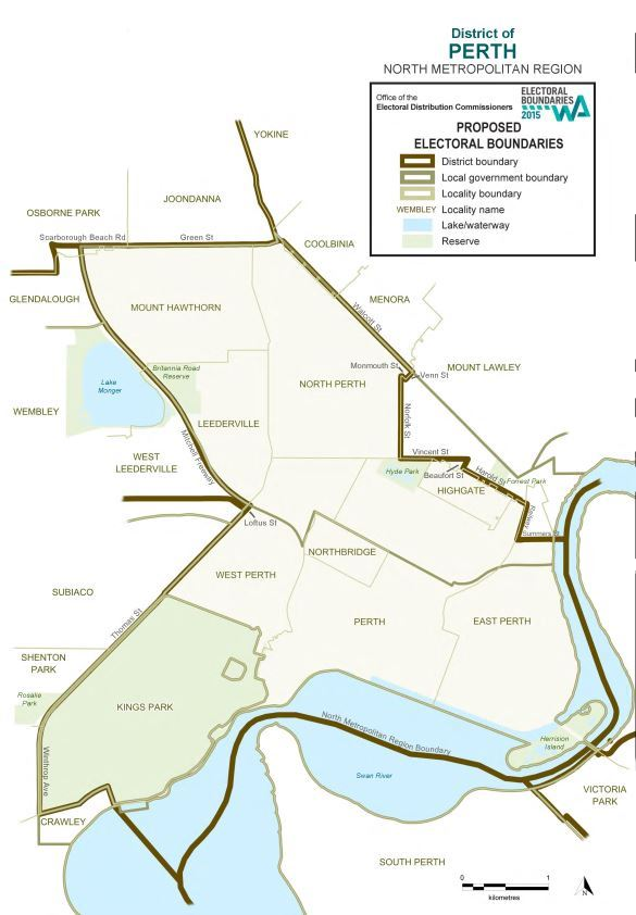 Map of 2015 Proposed Perth district