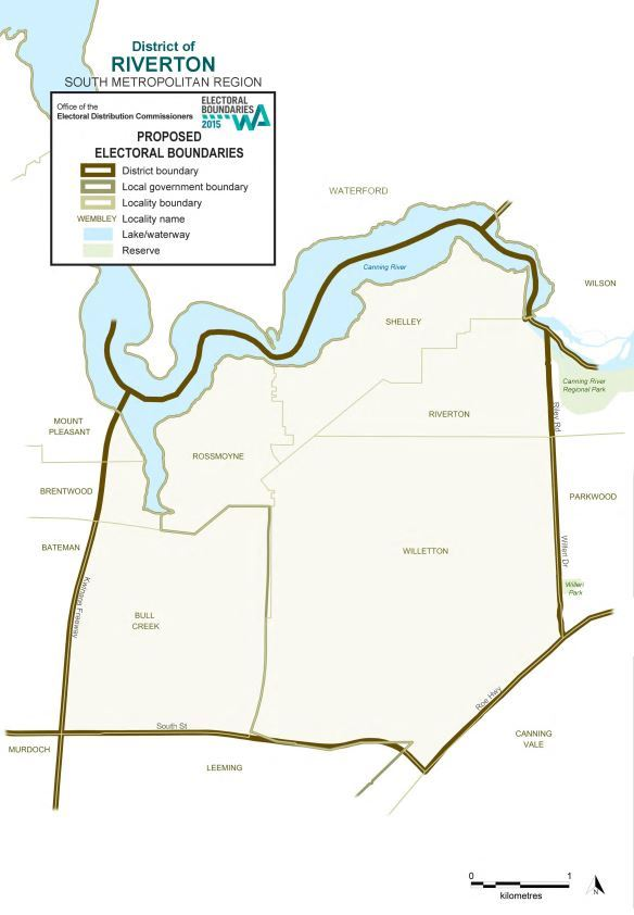 Map of 2015 Proposed Riverton district