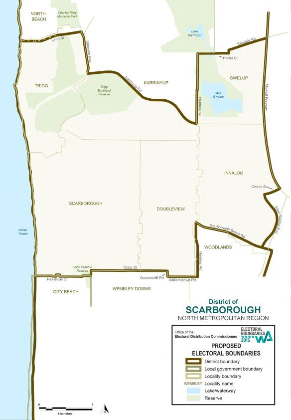 Map of 2015 Proposed Scarborough district