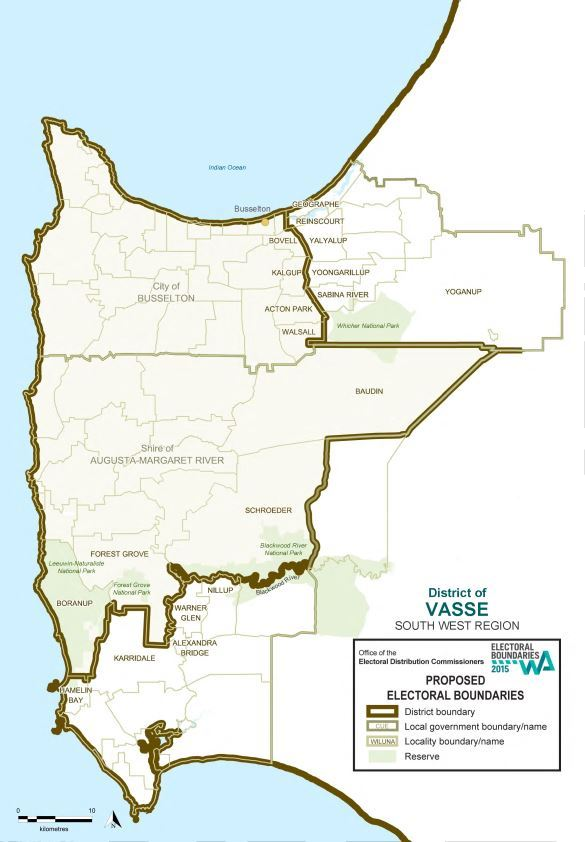 Map of 2015 Proposed Vasse district